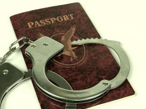 Passport and Handcuffs